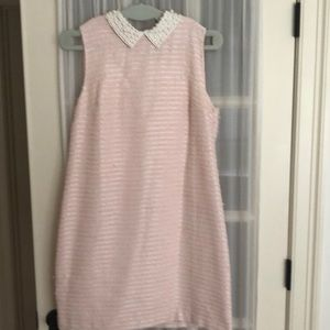 Pink and silver stripe dress